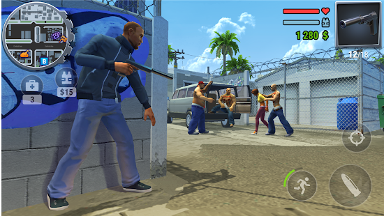 Gangs Town Story action open world shooter 0.3c MOD + DATA (Free Shopping)